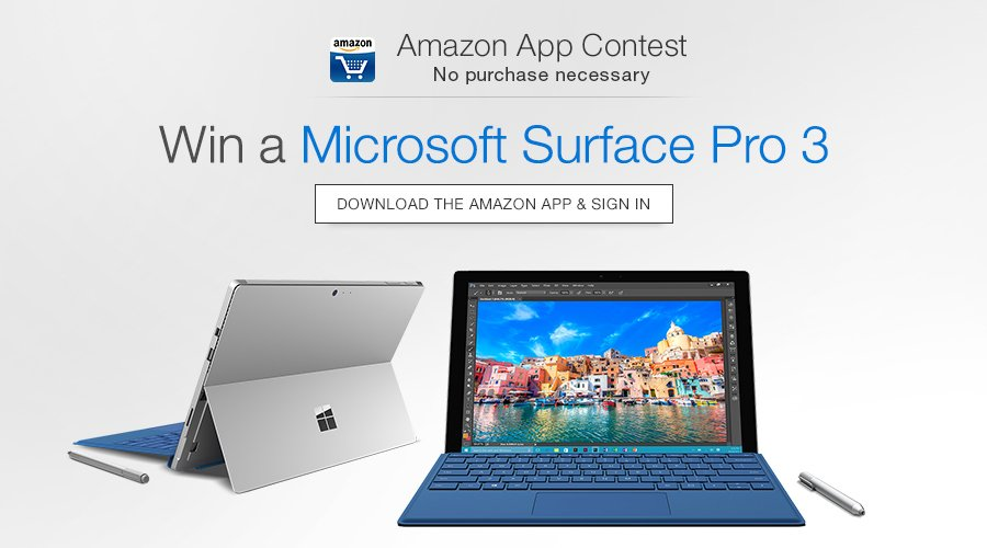 Download And Sing up to Win Free Microsoft Surface Pro 3 - Freebie