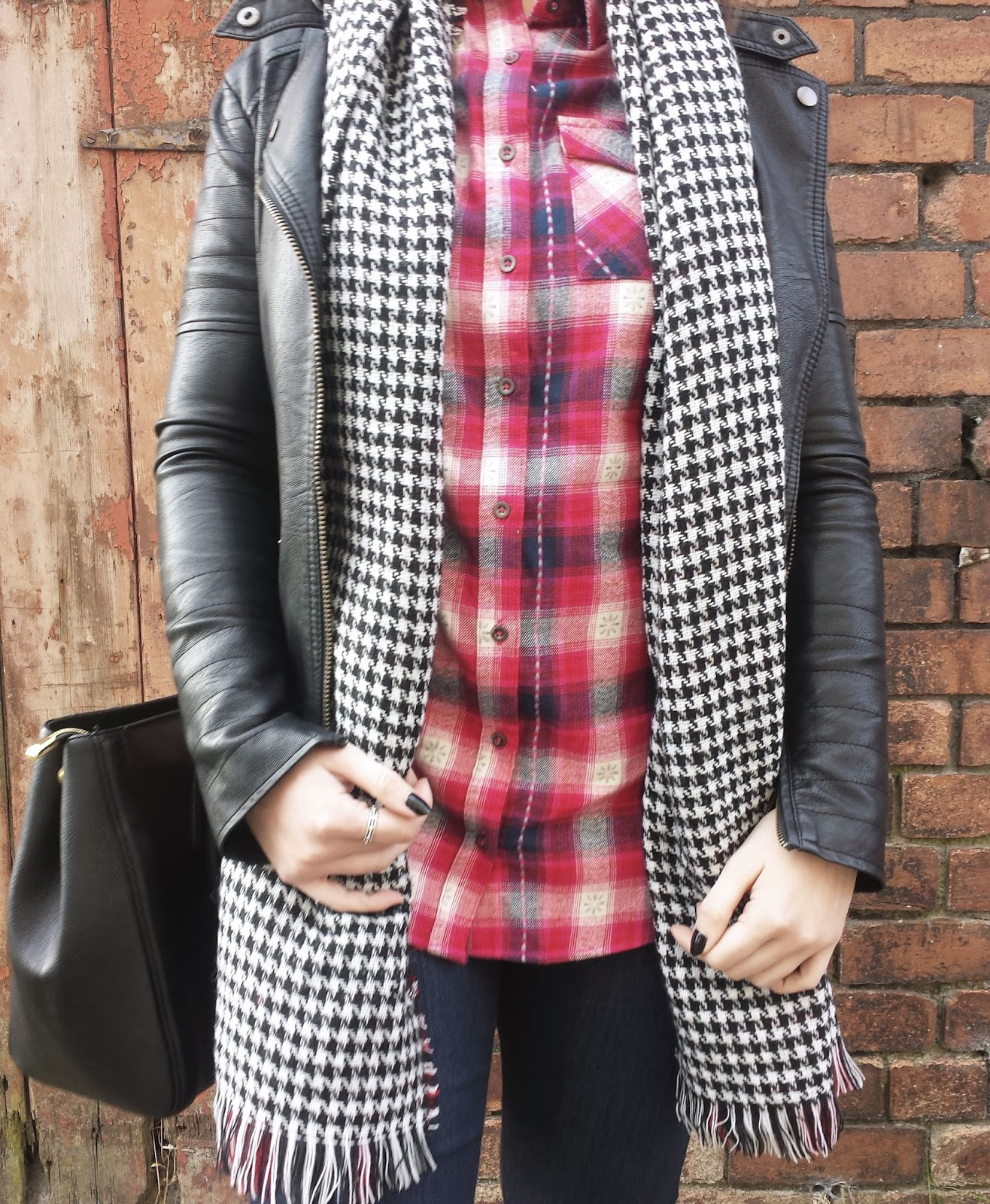 George Asda Red Checked Oversized Shirt