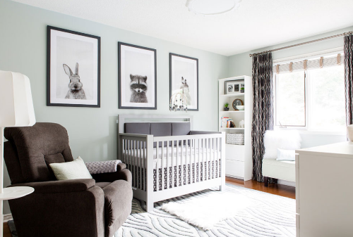 Consider baby nursery decorations that match the overall style of your home