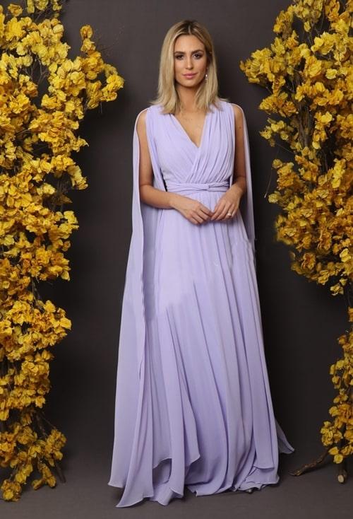 vestido longo lavanda para mãe da noiva