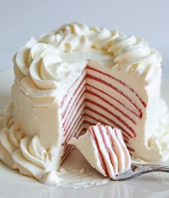 Low Carb Red Velvet Crepe Cake Recipe