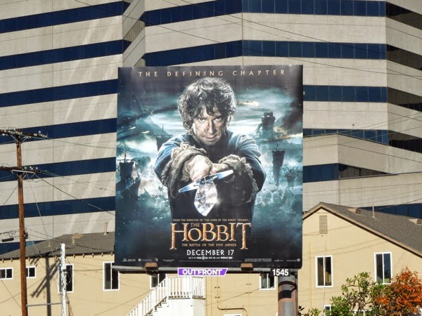 Hobbit Battle of the Five Armies Bilbo Baggins billboard