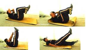 Haciendo abdominales, ejercicios para adelgazar en casa y tonificar el cuerpo
