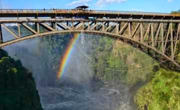 100-yr old Victoria Falls bridge
