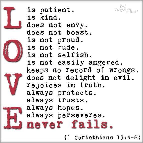 The Traveling Ecumenist Checklist For Love 1 Corinthians 134 8