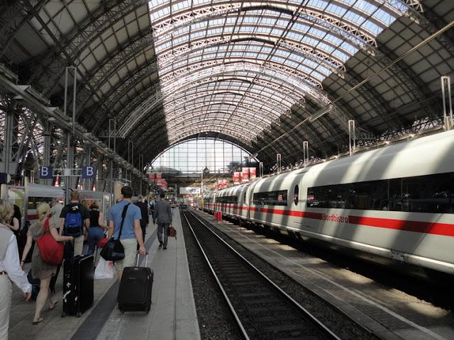 Viagem de trem de Frankfurt até Munique