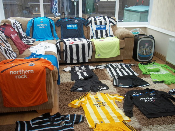 Fan puts Newcastle shirts up for sale because he now supports Manchester City