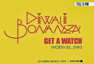 Double Dhamaka: Enjoy 30% additional off + Free Gift worth Rs.2995  on Purchase worth Rs.5999 (Valid till 5.00PM Today)
