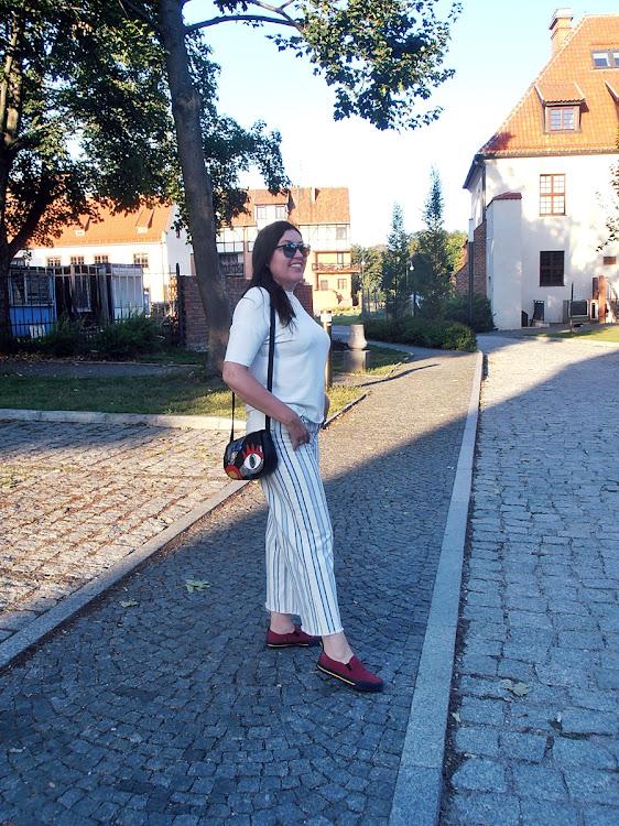 Spodnie z diagonalu/ the twill pants with H&M