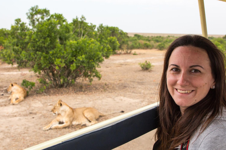 Al lado de unas leones en Masai Mara