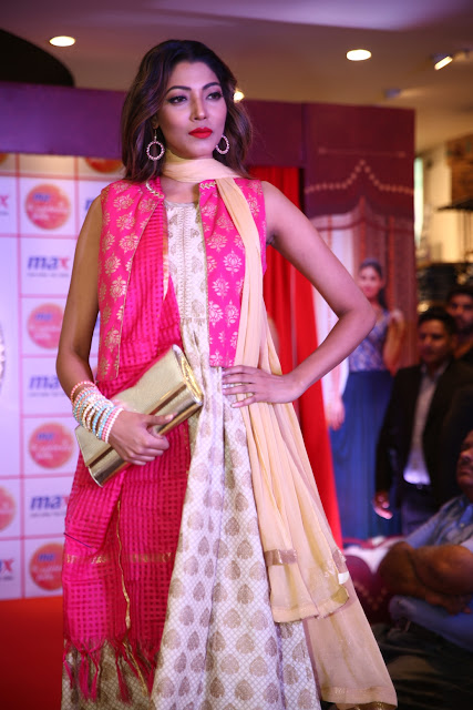 Model walking the ramp at the Festive collection launch