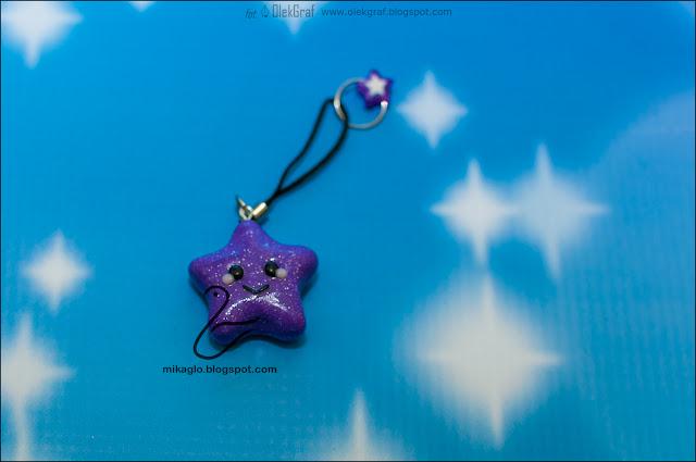 651. Brelok – gwiazdka z modeliny / Polymer clay star keychain