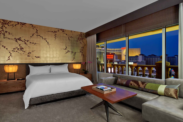 Set right in the center of Las Vegas strip, once inside Nobu Hotel Caesars Palace there is a Zen-like calm; it's an authentic escape from the nonstop momentum that is Las Vegas. Sexy, minimalist design gives these 182 stylish guest rooms and suites an air of mystery in a place famous for the overstated.