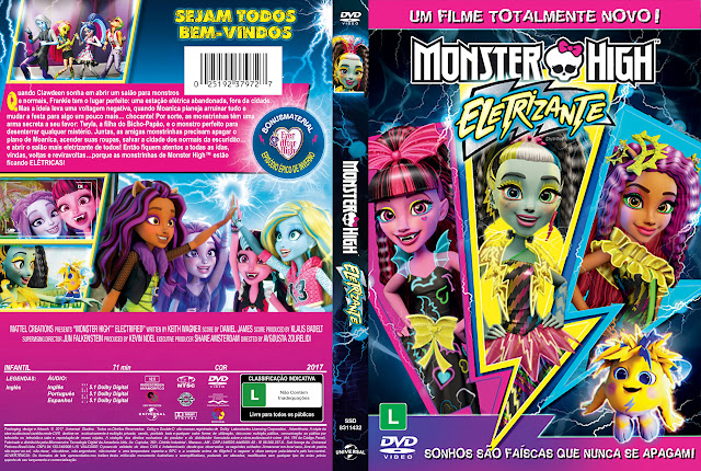 Capa DVD Monster High Eletrizante [Exclusiva]