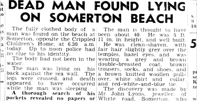taman shud, mistério, homem de somerton, austrália, praia, zona 33, sem solução, crimes
