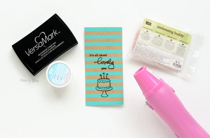 Handmade Shaker Bookmark: Embossing | pitterandglink.com