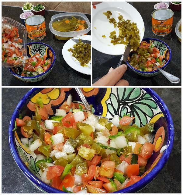 Spicy pico de gallo with LA MORENA® sliced jalapenos