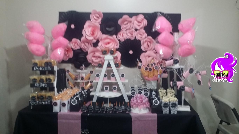 Fantasia fiestas tematicas fiesta flores - Decoracion fiesta rosa ...