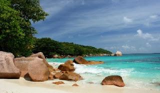 Playa Anse Lazio en la isla Praslin
