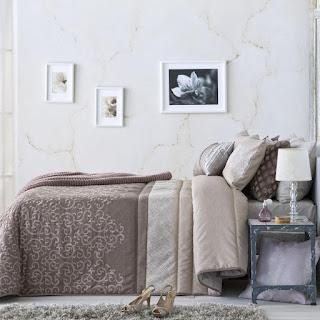 Colcha Bouti modelo Mapi color Malva de Antilo Textil