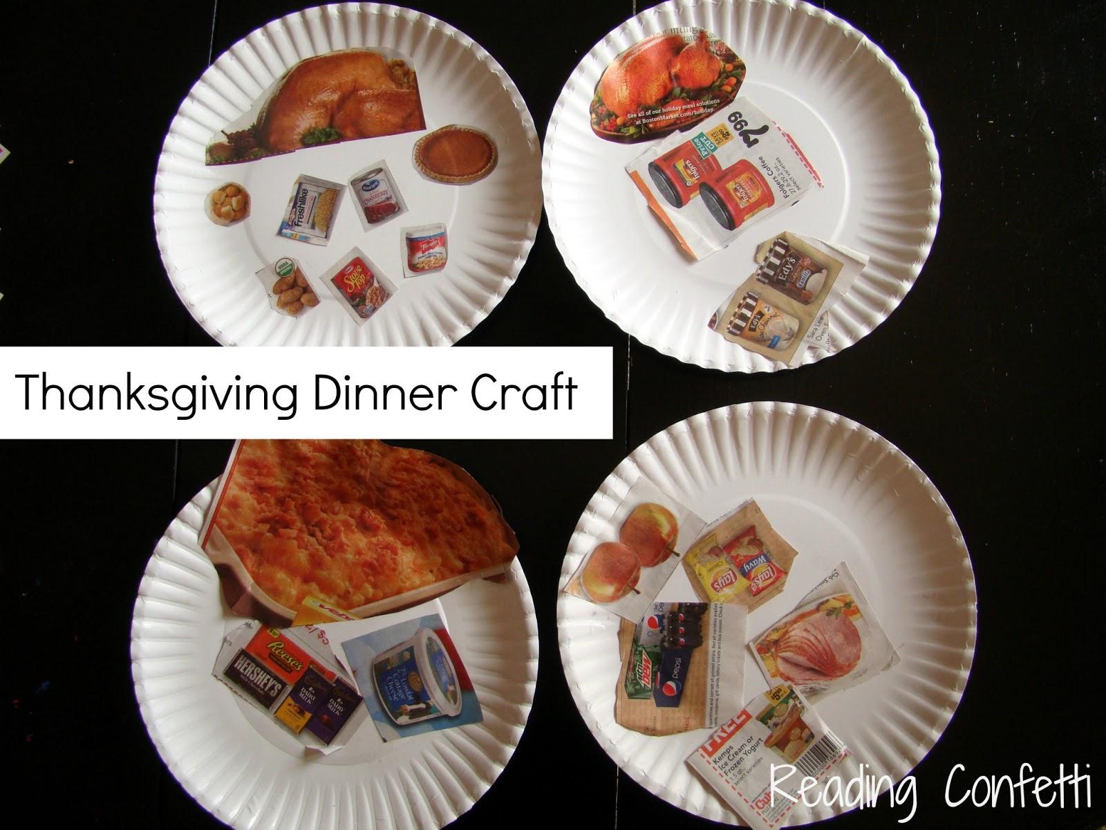 Easy Thanksgiving Dinner Craft Reading Confetti
