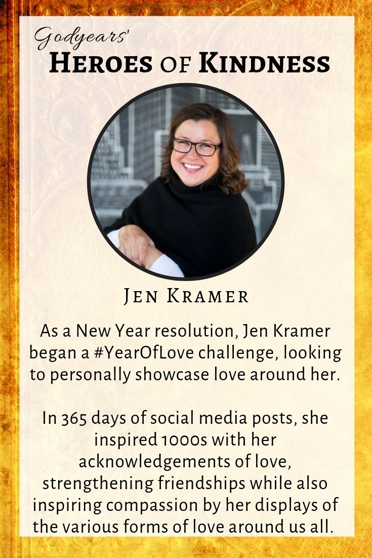 Jen Kramer's New Year resolution was to share 365 'love letters' on social media to people around her.