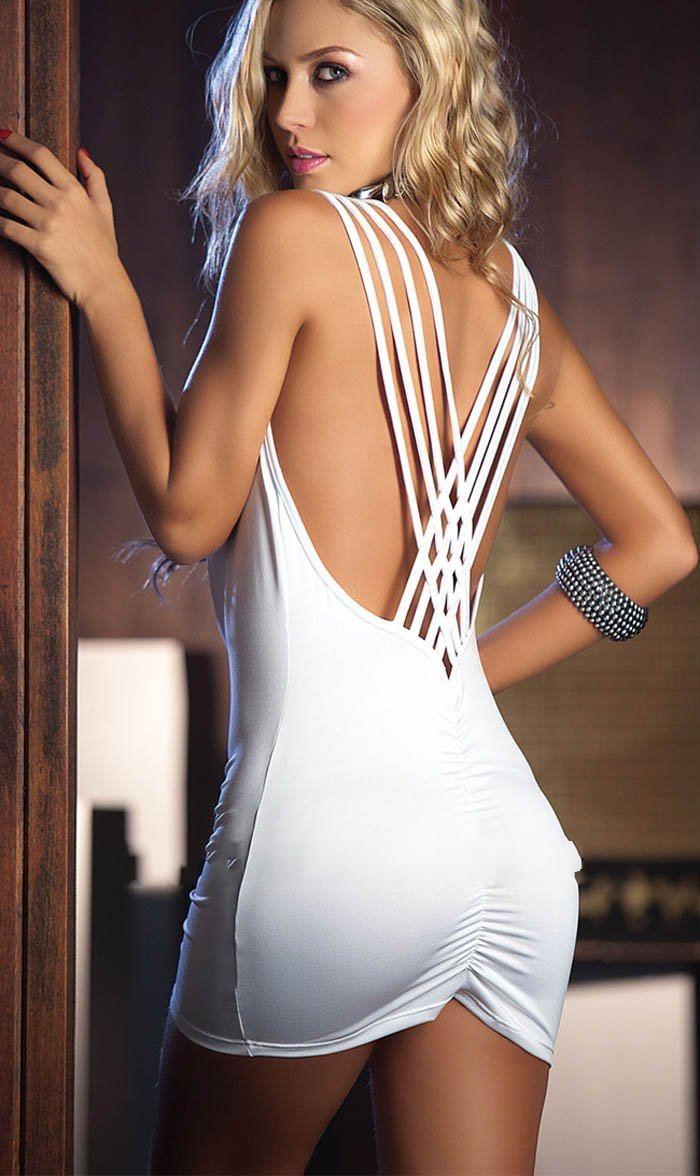 Sexy White Dress - Lesbian Pantyhose Sex
