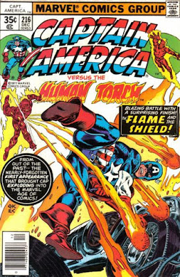 Captain America #216, the Human Torch