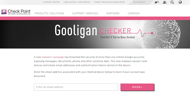 Gooligan Checker