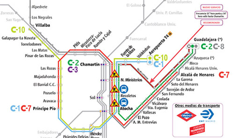 Mapa Cercanias Madrid 2017.Asi Seran Las Obras Del Tunel De Recoletos De Cercanias