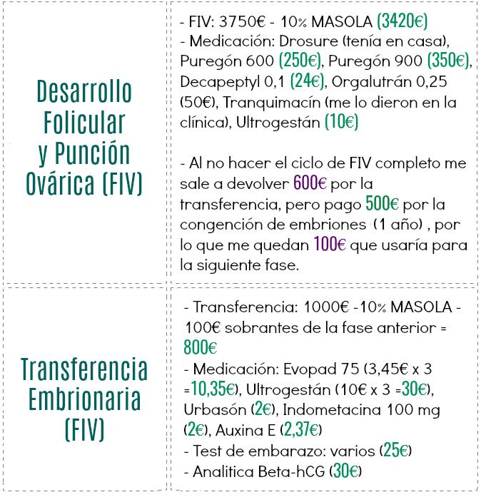 Precios FIV clínica privada