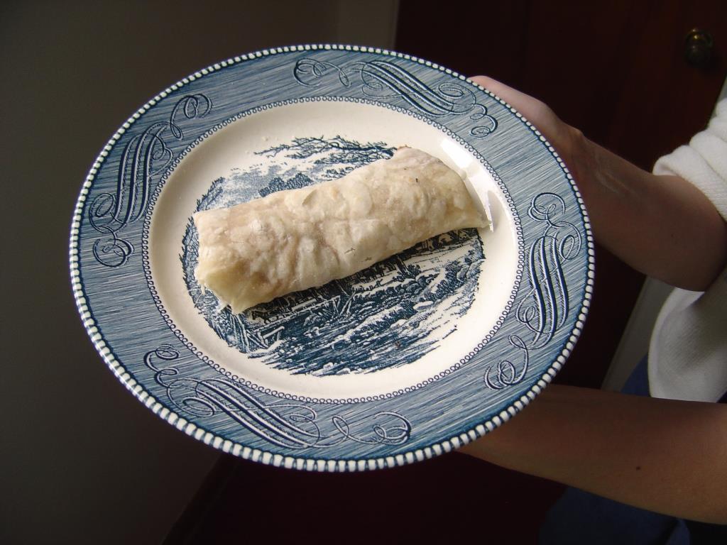 Homemade Filled Flour Tortilla