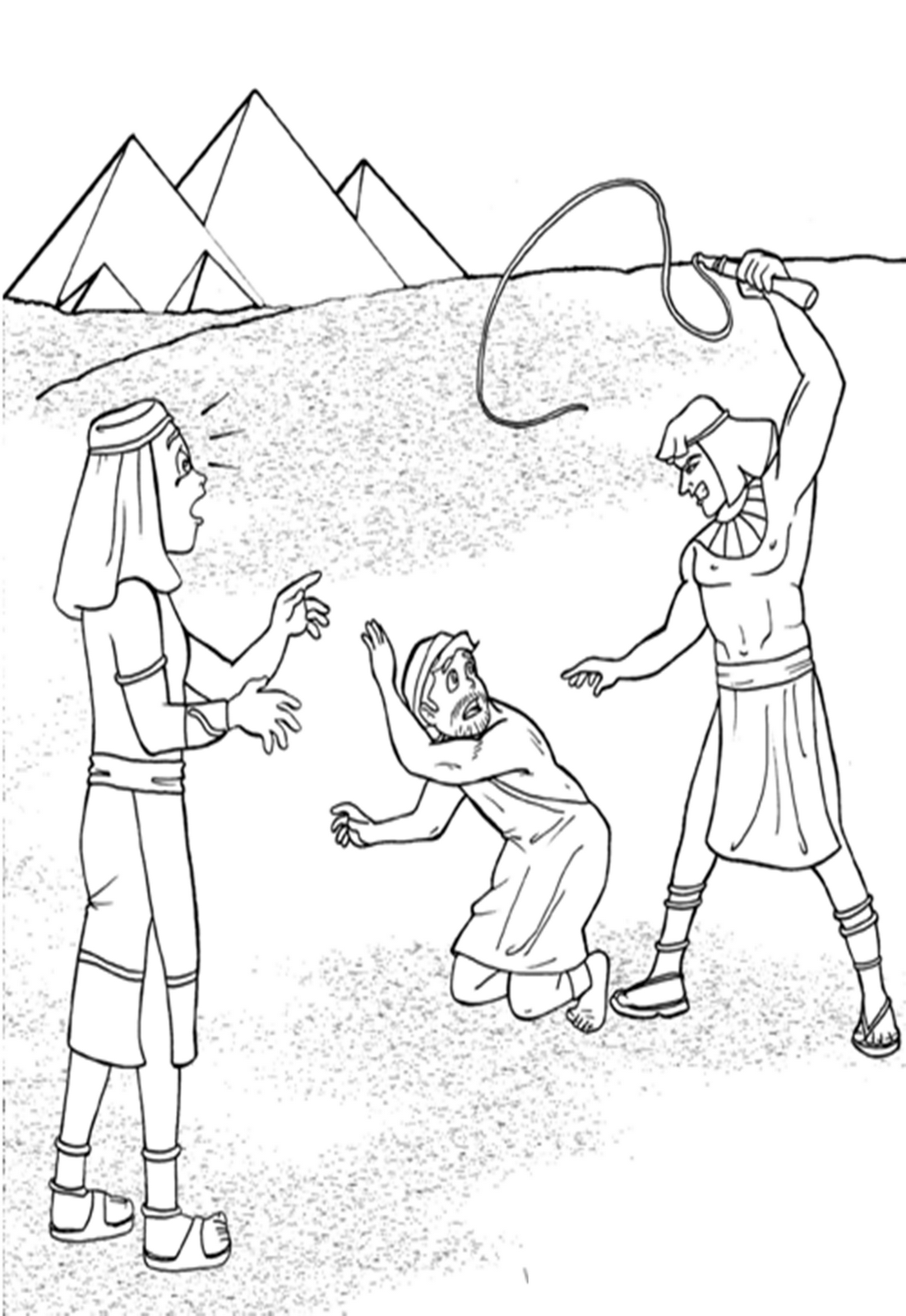 Moses Kills Egyptian Coloring Page Coloring Pages