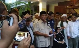 Deklarasikan Kemenangan, Prabowo Kantongi Kecurangan Pilpres Diberbagai Daerah