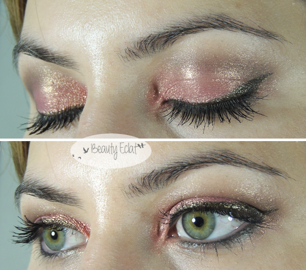 tutoriel maquillage rose kaki