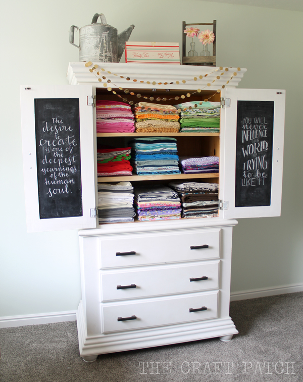 The Craft Patch: The Glorious Fabric Storage Armoire