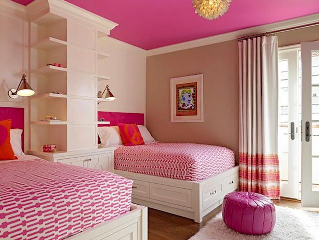 kamar tidur anak perempuan minimalis dan sederhana ukuran 3x3