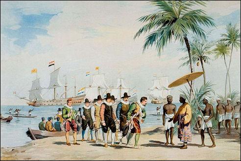 Cornelis de Houtman saat bertemu Raja Banten