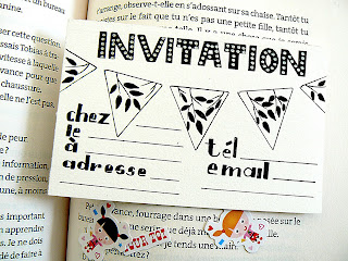 Hand lettered invitation