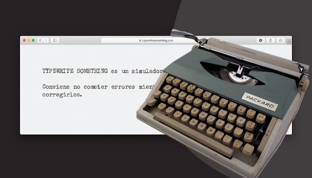Typewriter Something is an emulator where you can write articles in
