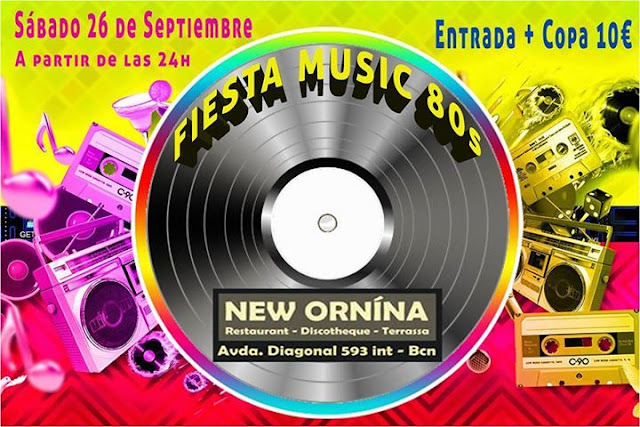 Flyer Fiesta Music 80s