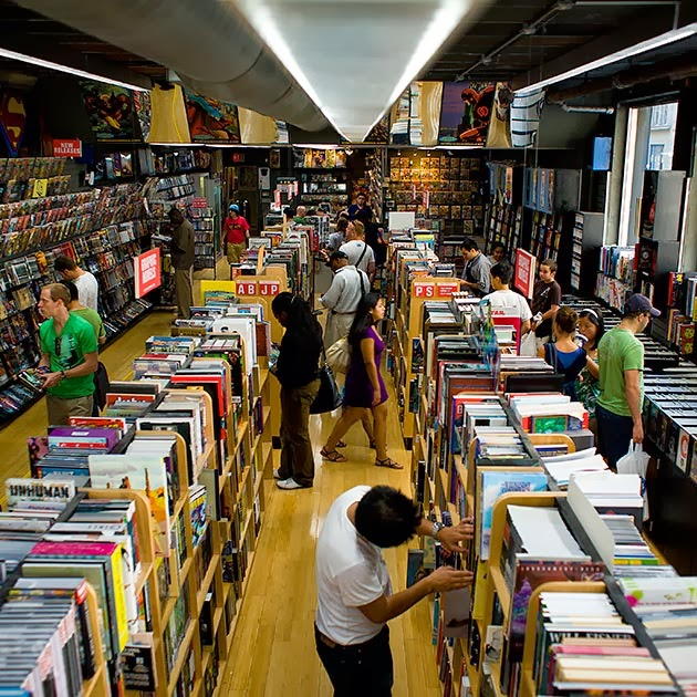 The Interior of Midtown Comics in New York City.