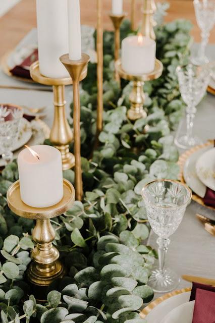 eucalyptus wedding table decor