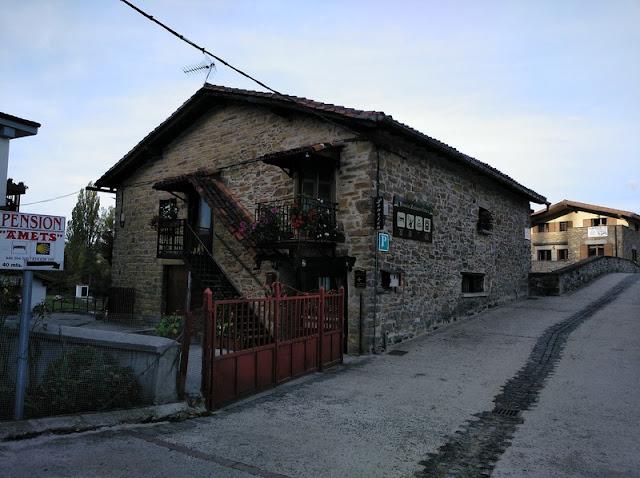 Pensión Zubiaren Etxea en Zubiri, donde nos alojamos
