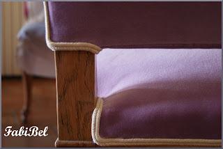 chaise régence  velours coton varese designers guild