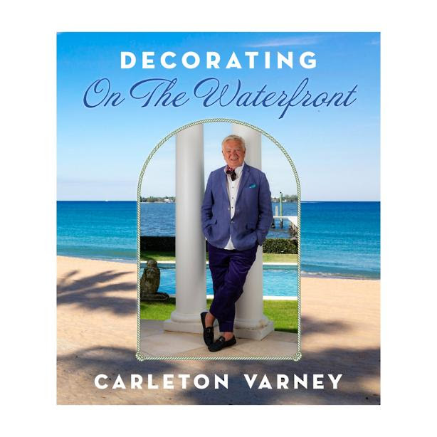 "Carleton Varney's new book ""Decorating on the Waterfront"" features many pieces sourced from James & Jeffrey Antiques."