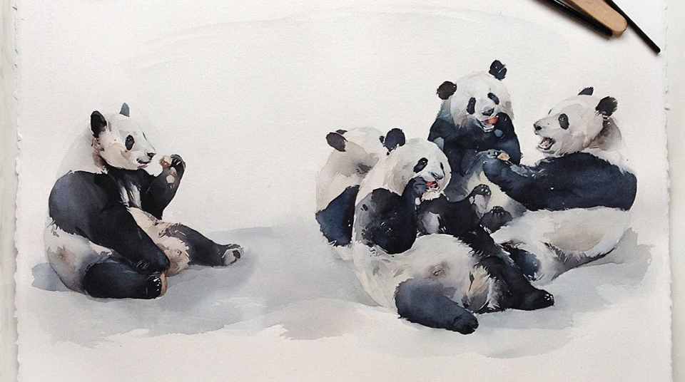 Beautiful Watercolor Works by Kadantseva Natalia