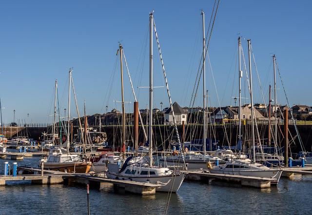 Photo of sunshine on Saturday morning at Maryport Marina