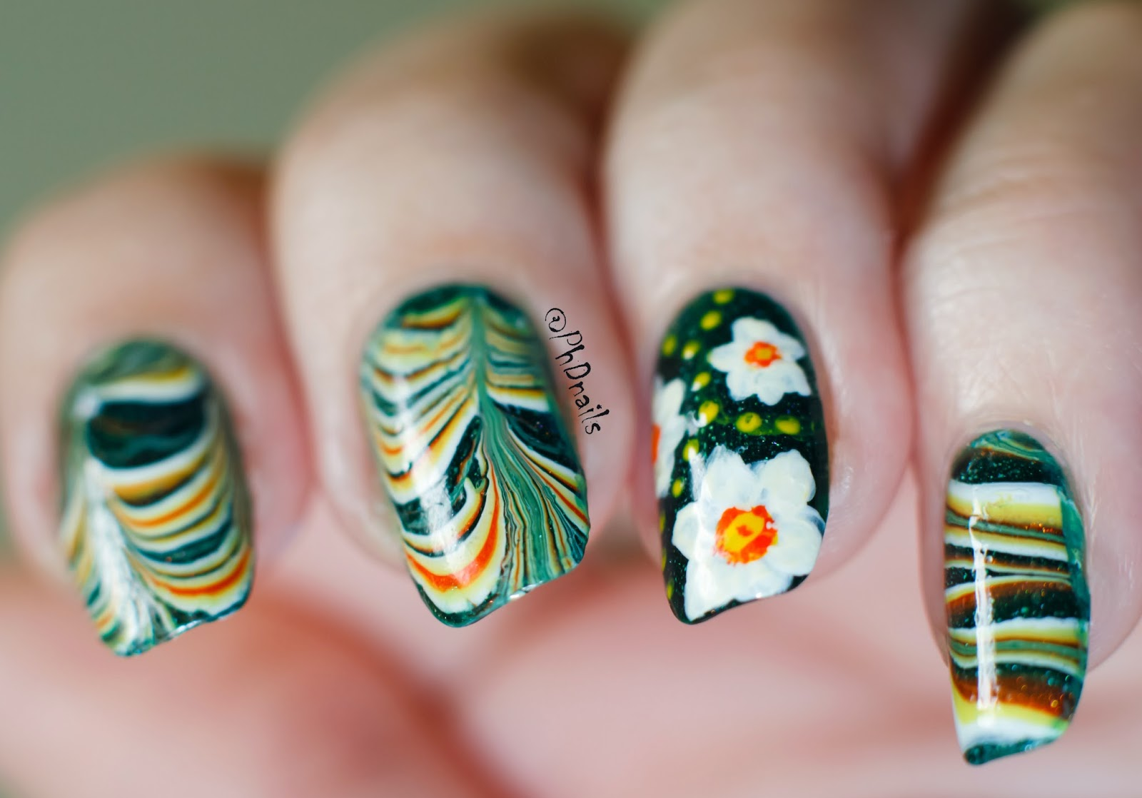 Phd Nails 30 Days Of Colour Water Marble Decals And Free