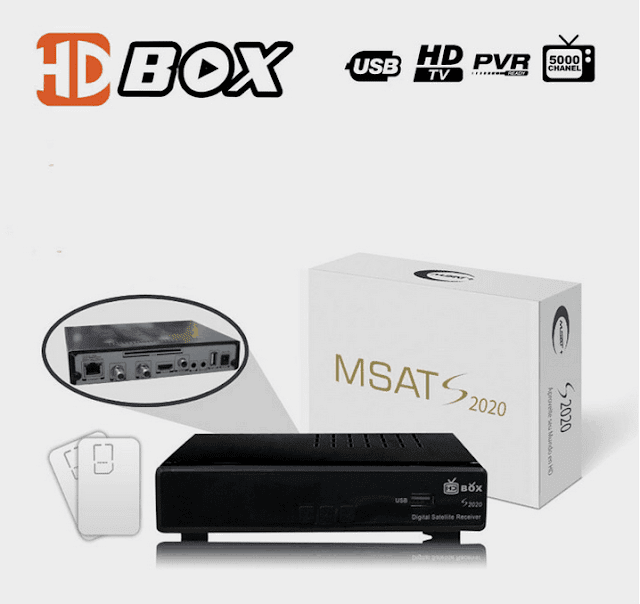 HDBOX MSAT S2020 HD NOVA ATUALIZAÇÃO V0821 - 23/08/2017